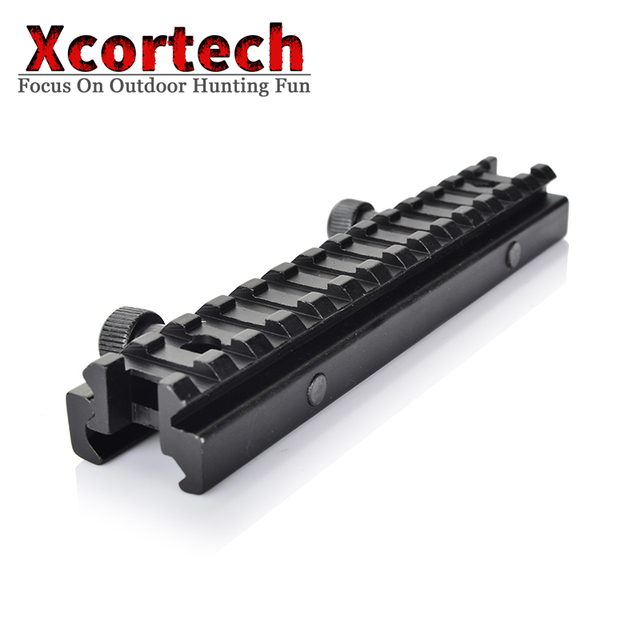 Tactical 1/2 Inch Flat-top Riser Base 20mm See-Thru Mount Rails AR Dovetail Weaver Scope Mount Picatinny Rail For AR15 M4