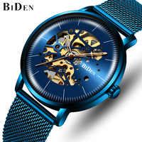 Relojes mecánicos automáticos BIDEN de marca superior para hombres reloj de negocios de lujo para hombres reloj de pulsera de cuerda automática de moda reloj Masculino