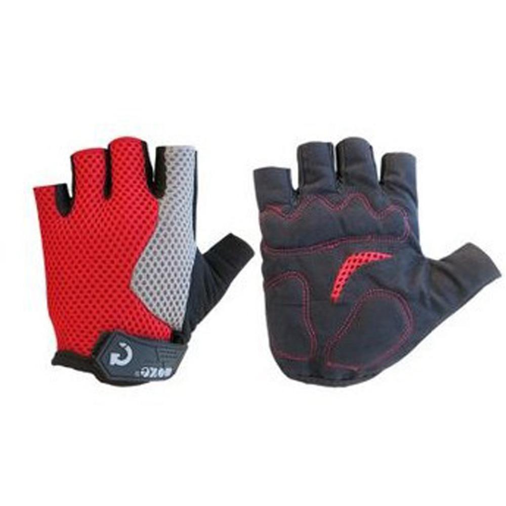 Велосипедные перчатки половину палец противоударный дышащий Спорт на открытом воздухе MTB Для мужчин Для женщин дышащие Нескользящие мотоц...