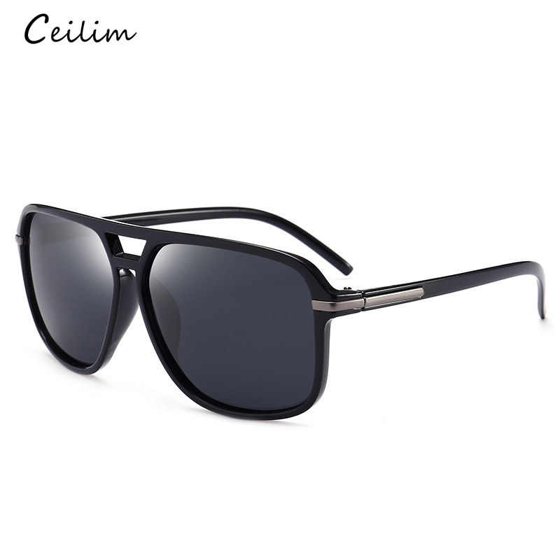 1743168997bf1 ... Luxury Polarized Sunglasses Men Flat Top Square Sun Glasses Mens  Driving Shades Male Sports Fishing Goggles ...