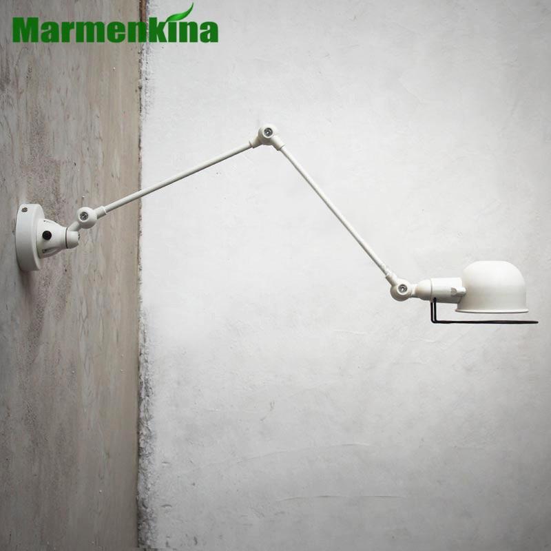 RH Loft Robot Arm Wall Lamp Jielde Wall Light Reminisced Retractable Mechanical Arm Lamp Vintage, With Switch E14 AC110-240V