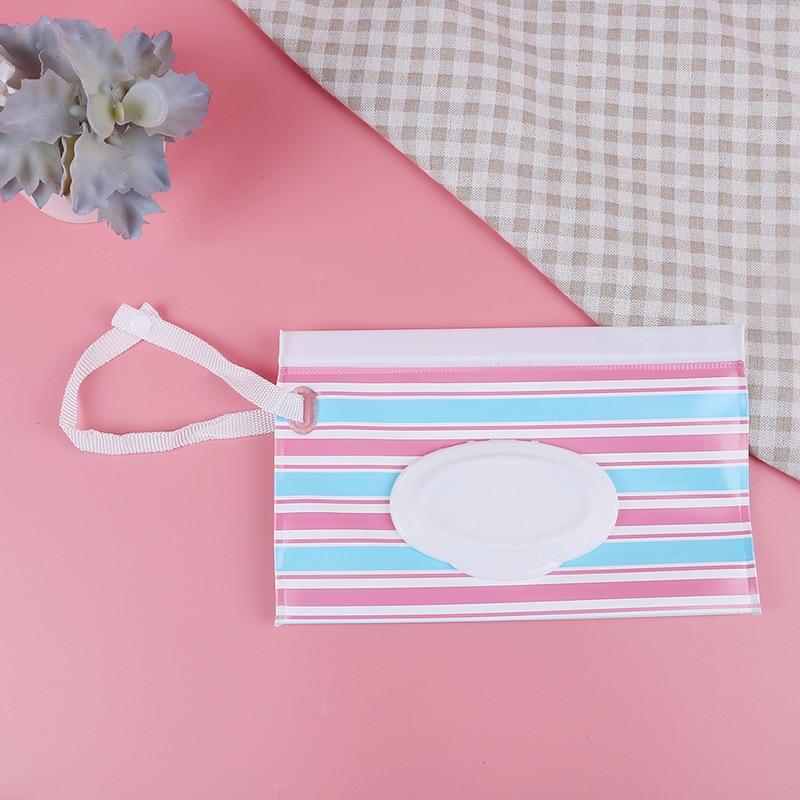 1 Stück Zipper Nassen Wischt Tasche Snap-riemen Hängenden Papier Tissue Container Für Kinderwagen Outdoor Reise Durchführung Windel Tasche