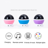 Starry Sky LED Night Light Projector Remote Controller Music Rotating Night Light Projector Starry Star Children Romantic L