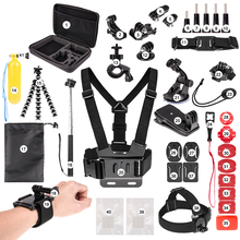 for Gopro Accessories set for Go Pro HERO6 5 4 3 & for SJ4000/SJ5000//SJ6000 LEGEND/SJCAM M20 4K/M10 WiFi/Xiao mi Yi 4K