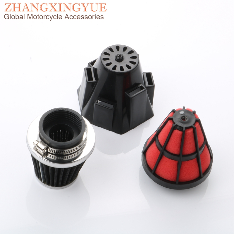 42mm Scooter High Performance Air Filter For BAOTIAN BT125T 12C1 12E1 Rocky 2A 3A2 3A4 3B6 8A 8B Delta 150 RT150 SC150 YY150 4T