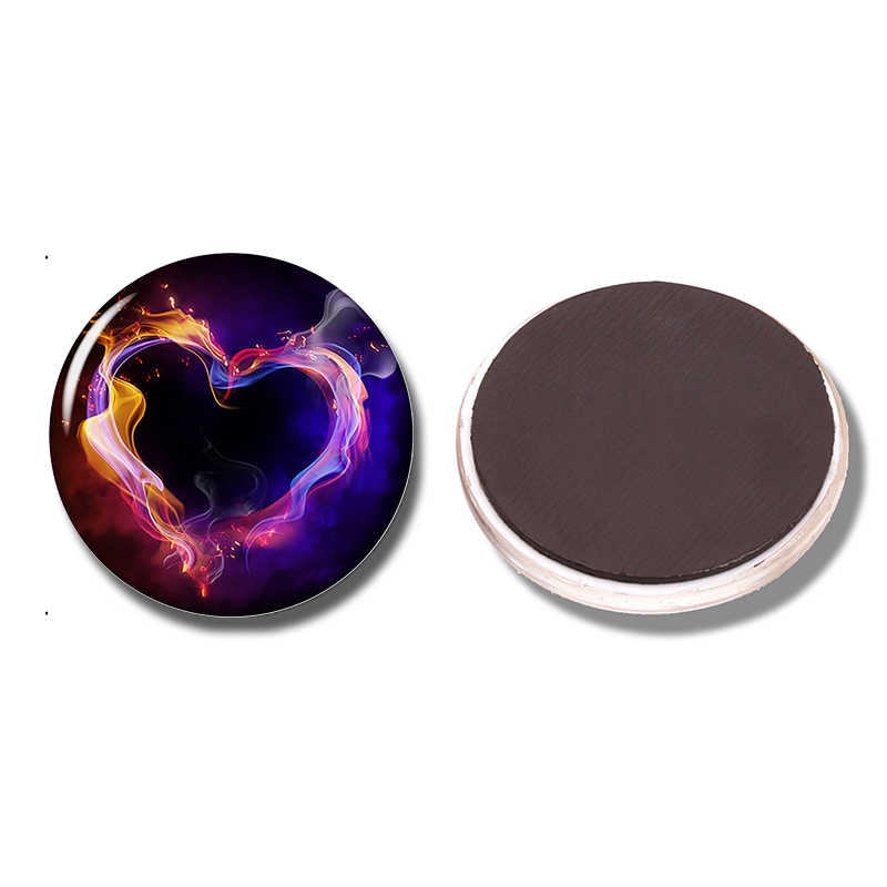 Cinta berbentuk 30 MM Kulkas Magnet Kulkas Kaca Stiker Bertopeng Jantung Catatan Pemegang Home Kitchen Aksesoris valentine Hadiah