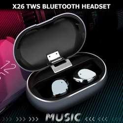 X26 TWS Водонепроницаемая Смарт Bluetooth 5,0 гарнитура с шумоподавителем с зарядкой Cas