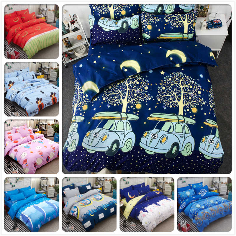 Single Double Twin Queen King Full Size Bed Linen 3/4 pcs Bedding Set Kids Duvet Cover Bedlinen 1.2m 1.5m 1.8m 2m Cotton 200x200