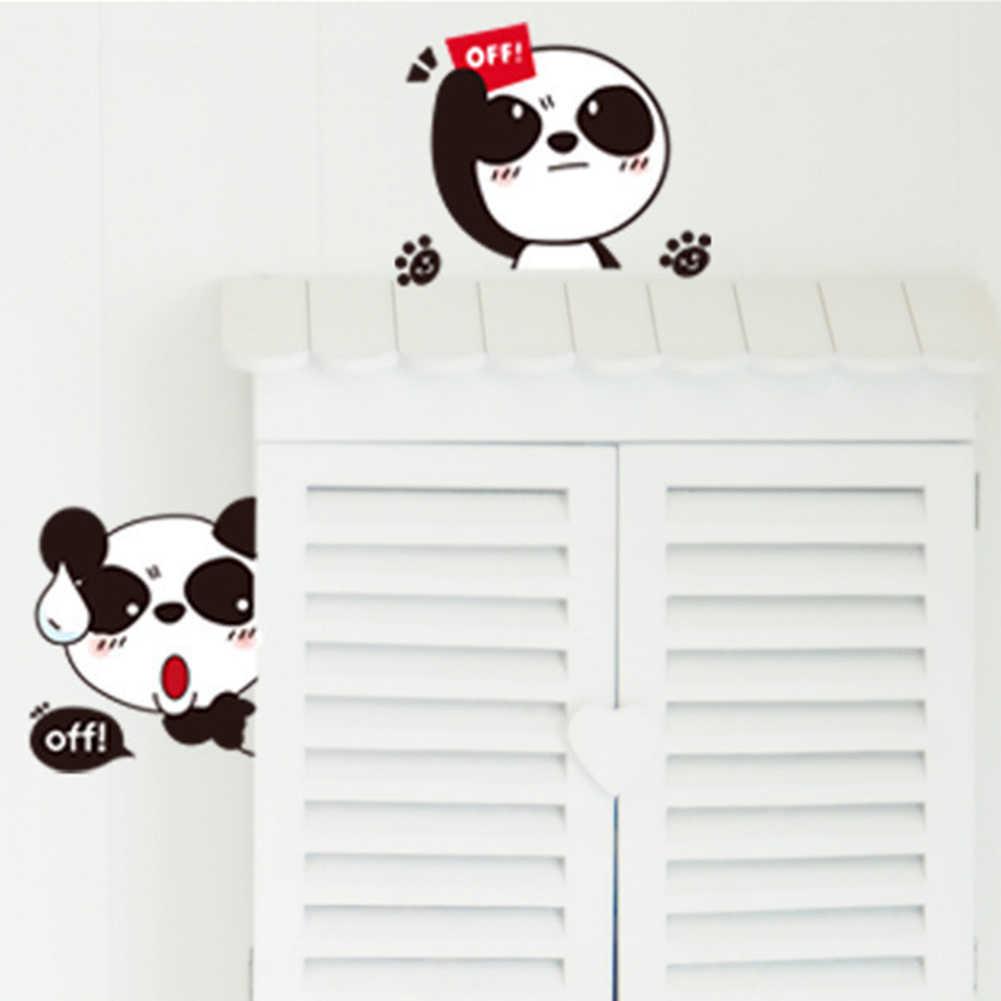 Encantadora etiqueta para interruptor de luz de dibujos animados 3D pared pegatina interruptor cubierta protectora impermeable enchufe con funda decoración del hogar no tóxico