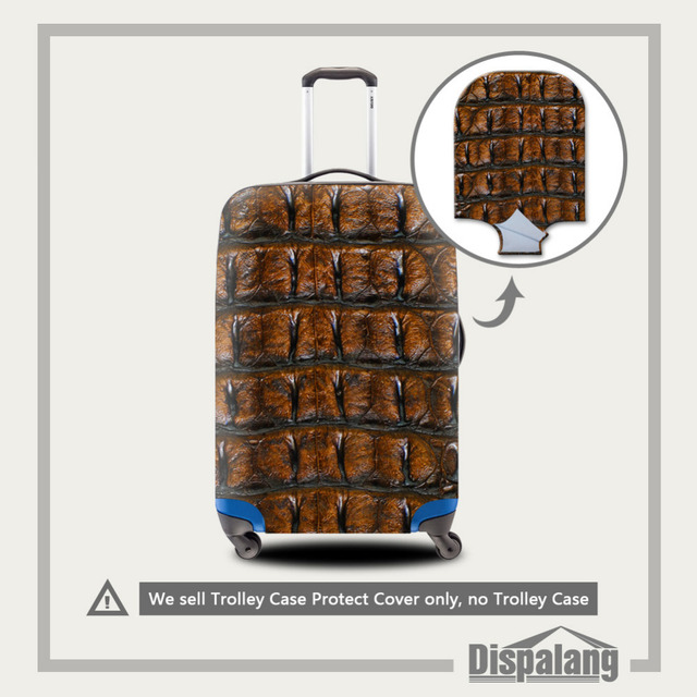 Pele de cobra Impressão Bagagem Capa Protetora Para 18-30 polegada Mala Elástica Bagagem Acessórios de Viagem Capa de Poeira À Prova D' Água