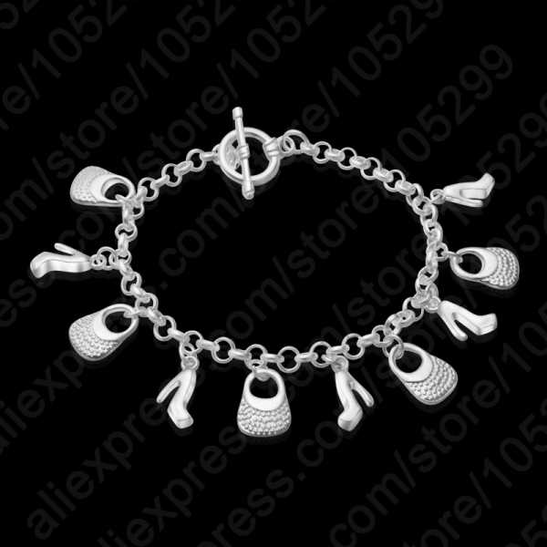 Europa Romantische 925 Sterling Zilveren Vrouwen Hanger Armbanden Armbanden Hot Koop Wedding Party Jewelrys