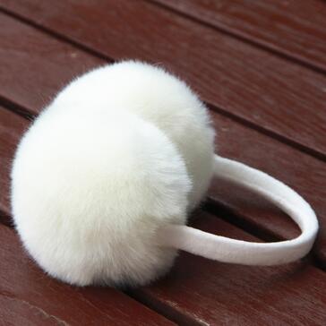 cute bowknot multicolor faux rabbit fur earmuffs
