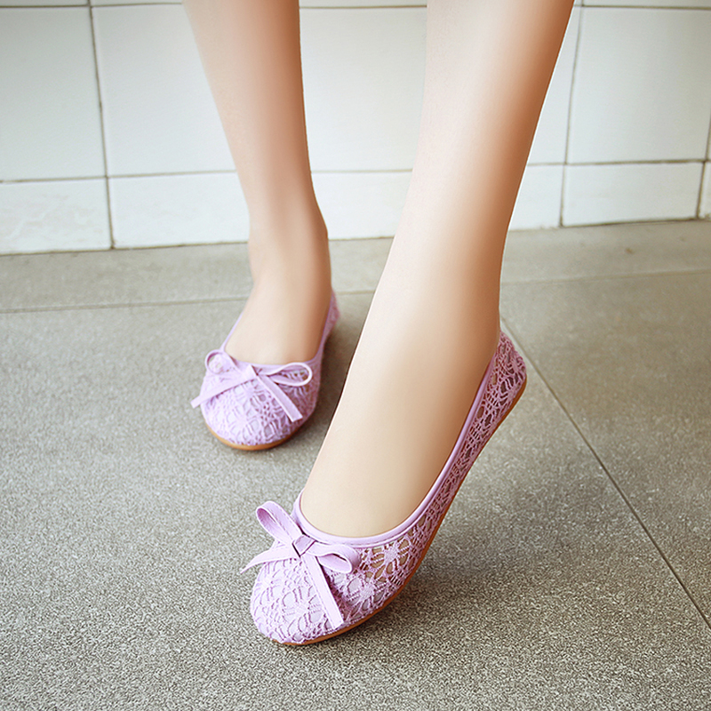 Ballet Flats For Ladies Summer Shoes Women Flats Bowtie Cut-out Shoes Lace Women Sweet Ladies Shoes Hollow Loafers Size 35-45Ballet Flats For Ladies Summer Shoes Women Flats Bowtie Cut-out Shoes Lace Women Sweet Ladies Shoes Hollow Loafers Size 35-45