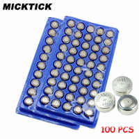 100Pcs AG13 357A A76 303 LR44 SR44SW SP76 L1154 RW82 RW42 High volume Button Cell Battery Long Lasting watch toys free shipping