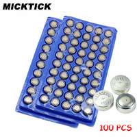 100Pcs AG13 357A A76 303 LR44 SR44SW SP76 L1154 RW82 RW42 High Volume Button Cell Battery