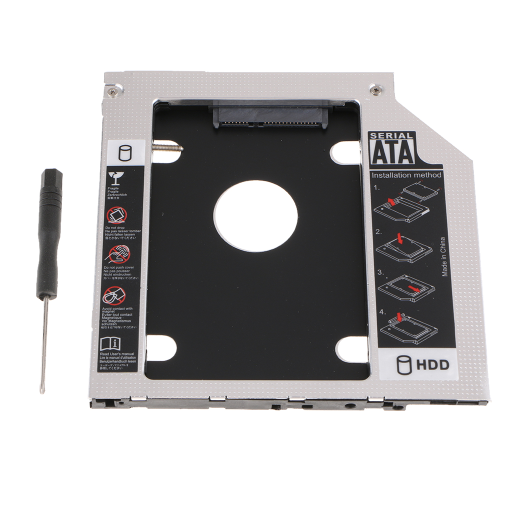 Hard-Drive-Adapter Bay-Bracket For Laptop CD DVD Optical-Drive 7mm 3rd SATA Black High-Quality