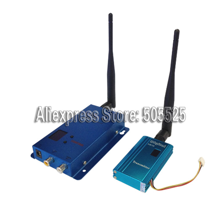 1.5G 1.5W Wireless Transmission Receiver Analog Audio And Video Transmitter