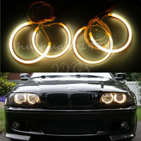 New 4x Angel Eyes Halo Rings 131mm 146mm Beam CCFL Light Non Projector For BMW E46