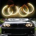 Nueva 4x CCFL Angel Eyes de Halo Anillos 131mm 146mm Viga No Proyector de luz Para BMW E46 Serie 3 1993-2003 Coche Amarillo Styling