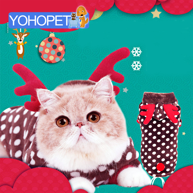 Pet Costumes Cats Clothes For Cats Christmas Outfit Funny Costume cat Puppy  Halloween Costume Soft comfortable - Pet Costumes Cats Clothes For Cats Christmas Outfit Funny Costume