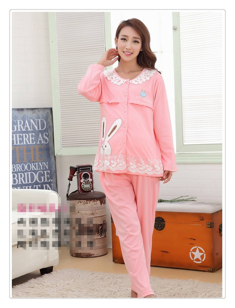 Bearsland Cotton Maternity Nursing Pajama (3)
