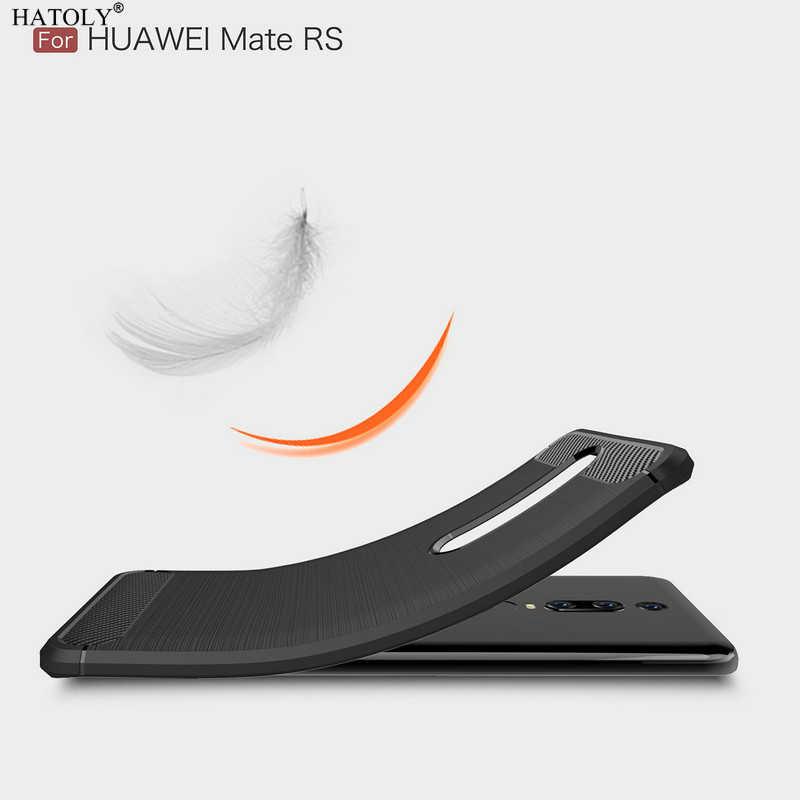 """HATOLY Cho Capas Huawei Mate RS PORSCHE THIẾT KẾ Trường Hợp Chống kích nổ Mềm TPU Chải Rugger Silicon Trường Hợp Điện Thoại Cho huawei Mate RS 6"""""""
