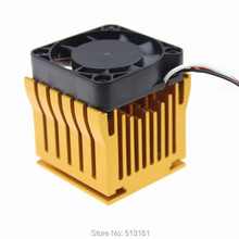 2pcs Cooling Fan Heat sinks Aluminum Cooler Heatsink DIY Northbridge Golden