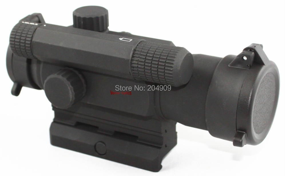 Vector Optics Tempest 1x 35mm Hunting Red Dot Scope Reflex Gun Sight with Flip-up Caps Fit Weaver Rail vector optics rayman 1x30 tactical 21mm weaver rise mount red laser gun reflex red dot sight scope
