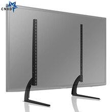 """אוניברסלי שולחן למעלה טלוויזיה צג Stand בסיס עם כוונון גובה fit 32 65 """"שטוח מסך טלוויזיה VESA עד כדי 800x600mm 110Lbs קיבולת"""