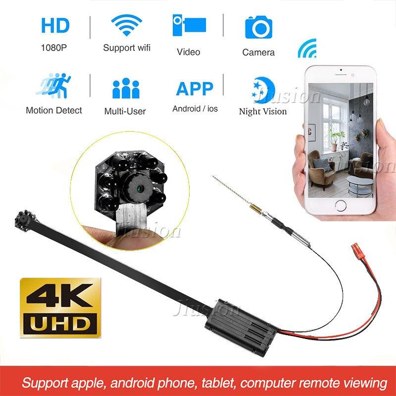 4 k WIFI BRICOLAGE Mini Module de Caméra de Vision Nocturne IR 1080 p UHD Micro Caméra de Sécurité De Capteur De Mouvement Vidéo Audio enregistreur Webcam Caméscope