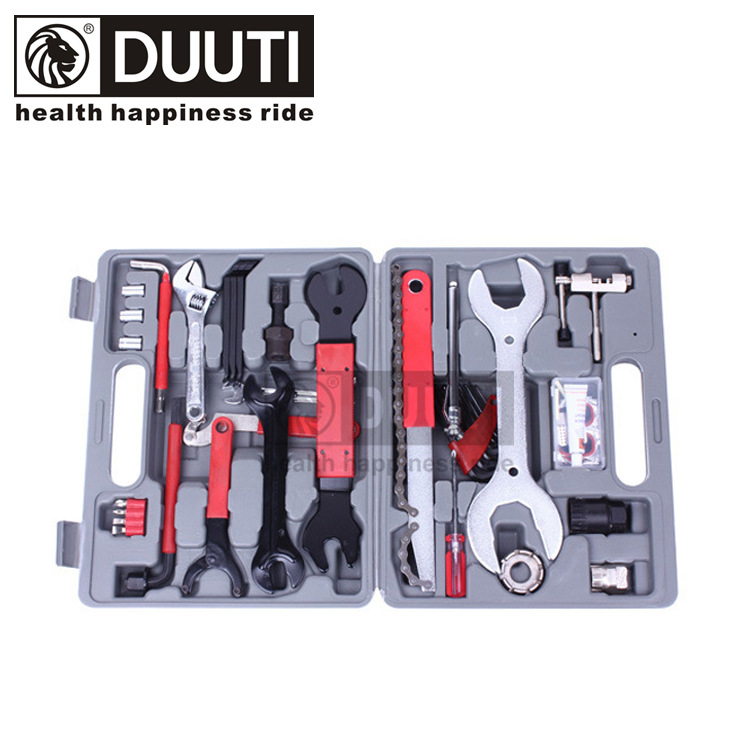 DUUTI TL-49 Full function combination Kit 32cm*25cm*7cm 3kg Bicycle repair tool Wrench Tirefit Screwdriver 2017 high quality screwdriver combination set unique telescopic function