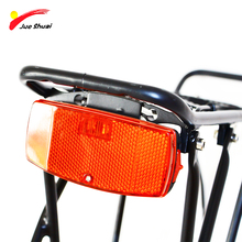 JS Bike LED Tail Light Bicycle Red Lamp 1500-feet visibility Safety Warning with AA Battery last 60-80 Hours Rear Rack Light
