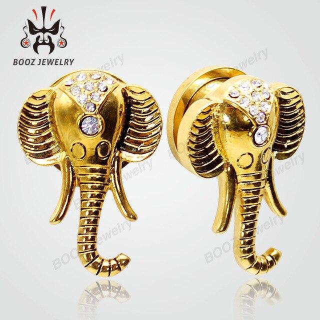 Купить kubooz дизайн слона пирсинг в уши туннели плоти пробки тела
