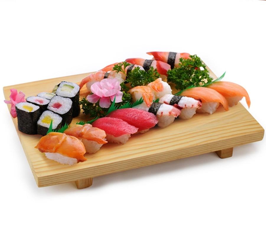 10inch Solid Wooden Sushi Plate Oval Shape Fruit Dessert
