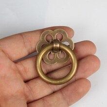 Vintage Style  Brass Knob Cabinet Door Knob Handle Pull Retro Round Drawer Knobs Pulls Handles Dresser Knob