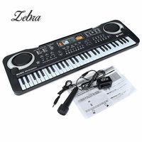 Schwarz 61 Tasten Musik Elektronische Keyboard Schlüsselbrett Kinder Geschenk E-piano Geschenk Mit Mini Mikrofon Für Kind Kind Musical orgel