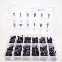 192pcs Auto Car Push Pin Retainer Clip Assortment Kit Fit For Ford GM Toyota Honda Etc