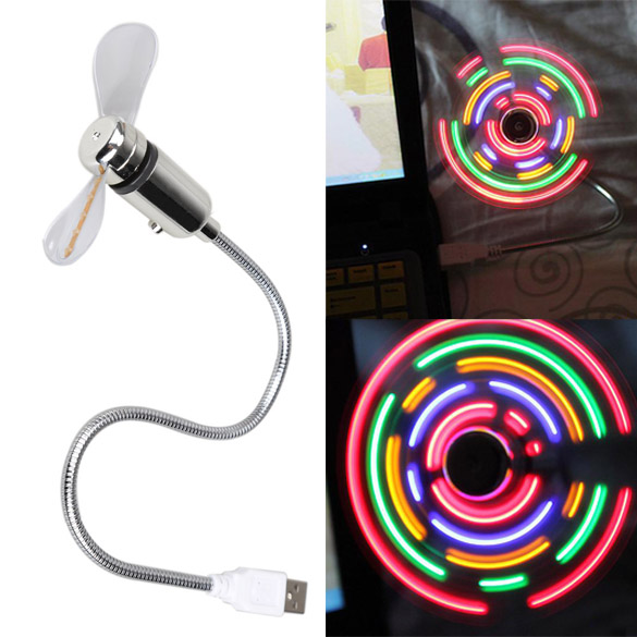 NEW Portable Mini USB2.0 Desk Cool Fan with 5 Color LED Light Switchable Fans For Laptop/Notebook/Desktop Computer