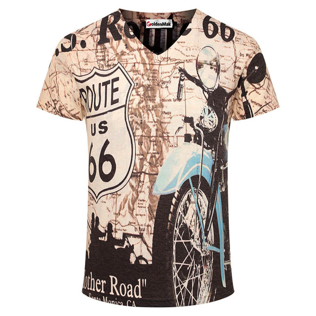 Aliexpress.com : Buy Mens T Shirts Fashion 2015 Motorcycle Printed ...