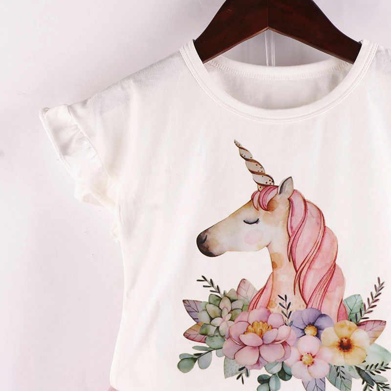New Summer Princess Dress infant Fashion Unicorn Dress for Girls Birthday party dress Kids Dresses Baby Girls Costume