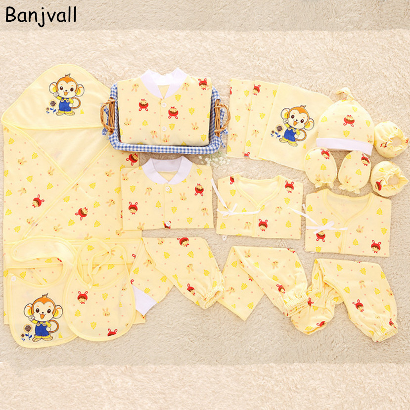 Newborn Baby Clothing Gift Set Underwear Suits Infant Clothing Set 100% Cotton Character 19 Pieces For Spring & Summer Pakistan