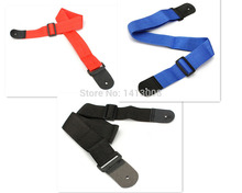 One Piece Black Blue Red Nylon 71.5-124.5cm guitar strap, widening, folk guitar straps, electric guitar, electric bass strap