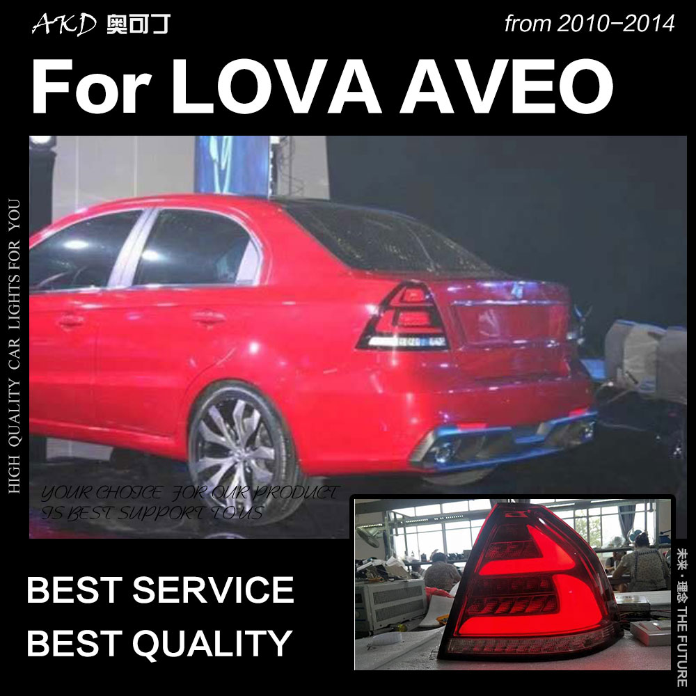 AKD Car Styling for Chevrolet Lova Tail Lights 2010 2014 Aveo LED Tail Lamp DRL Brake