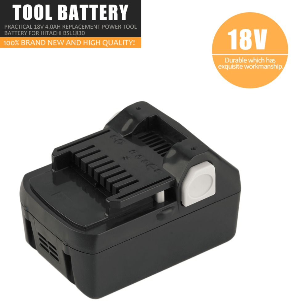 Batterie d'outils véritable 18 V 4.0Ah Batteries au Lithium rechargeables Batteries d'outils électriques de remplacement pratiques pour Hitachi BSL1830