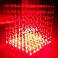 3D из светодиодов LightSquared белый из светодиодов красно-лучей 8 x 8 x 8 3 мм из светодиодов кубик DIY Kit 5 В питания