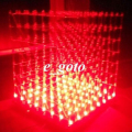 3D LED LightSquared White LED Red Ray 8x8x8 3mm LED Cube DIY Kit 5V power supply