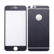 Фронт + назад 3d алмаз зеркало цвет закаленное стекло-экран протектор закаленное защитная пленка для iphone 6 6s plus 5.5 дюйма