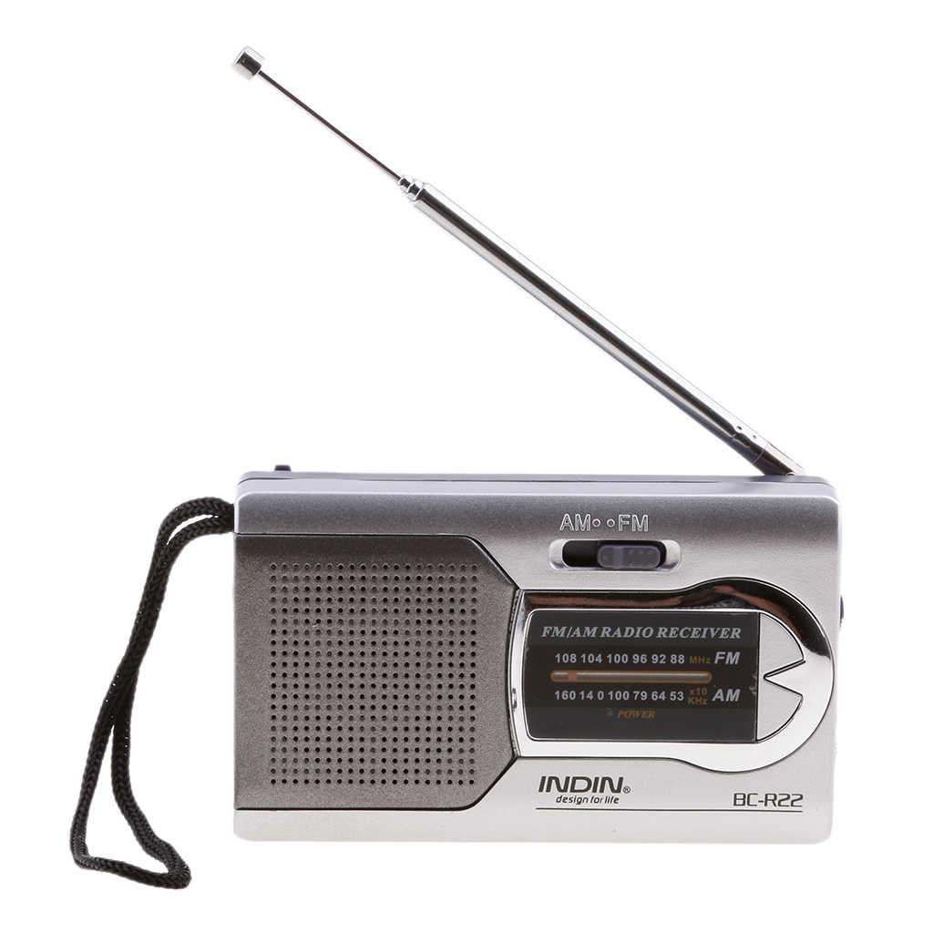 BC-R22 ポケットポータブルミニ AM/FM ラジオスピーカー世界レシーバ伸縮アンテナミニポータブル AM/FM ラジオスピーカー