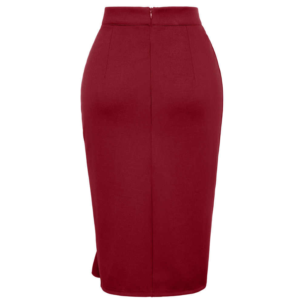 44ea80fd63 ... Women Pencil Skirt 2018 Bodycon Bandage High Waist Skirt Ruffled Split  Short Skirts Womens Red Black ...