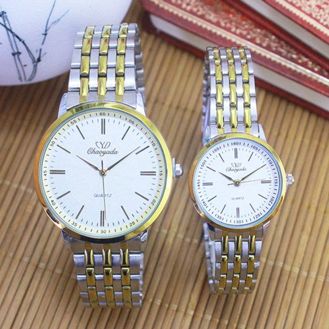 018 New Fashion women quartz Watch Men Gold Steel Watches Luxury Brand Wristwatc